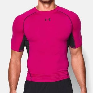 🔃Under Armour Pink Heat Gear Compression Shirt